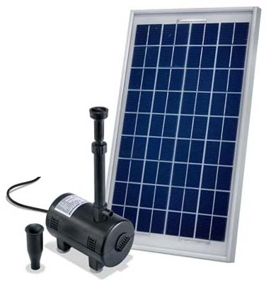Solar powered pond pump