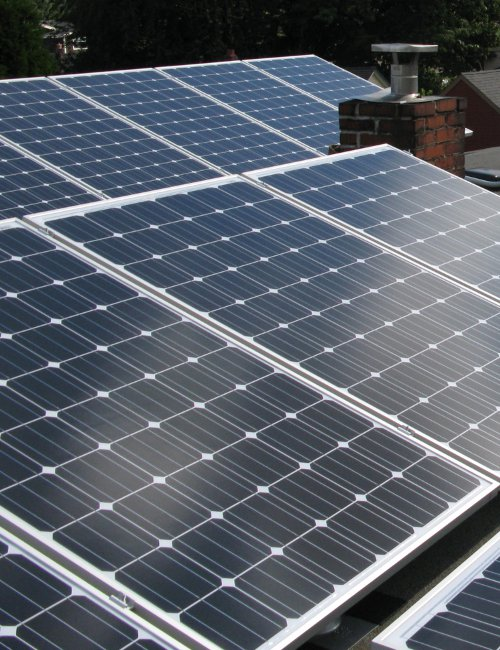 Solar panel homes