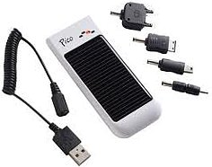 Solar powered cell phone chargers